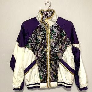 Vintage East West Purple Windbreaker 80s Jacket M